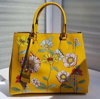 NWT A BELLUCCI Floral Italian Leather Satchel Handbag