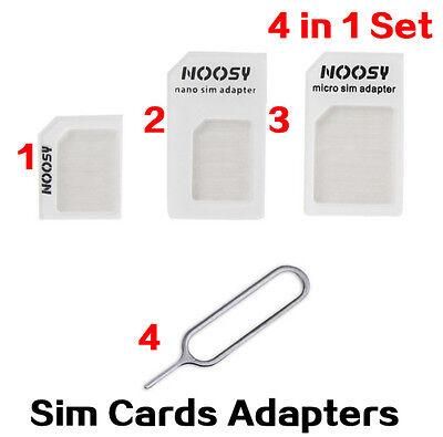 USA! Genuine NOOSY SIM Card Adapter 4-in-1 Nano to Micro Standard Converter