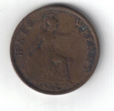 HALFPENNY - GEORGE V - 1936