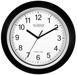 12 Modern Analog Wall Clock Atomic Self-Setting Easy To Read Battery Operated