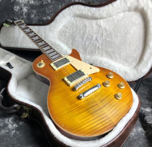 Upgrade 1959 LP Relic Electric Guitar One Piece Neck&Body Nitrolacquer Alnico Pi
