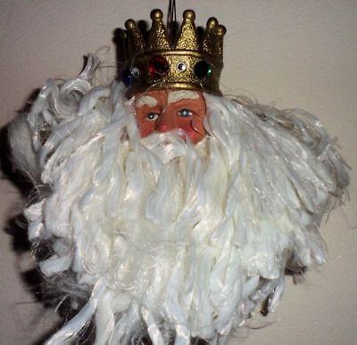 Christmas Tree Decoration Santa Claus Face Ornament Crown Velvet Craft Making