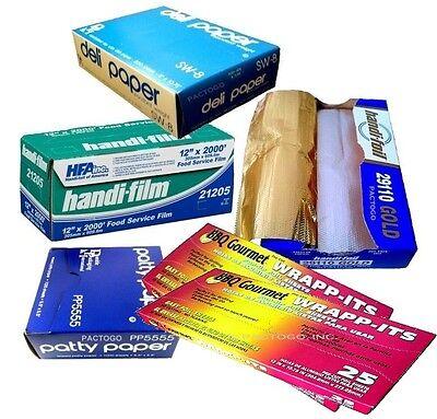 Handi-film Plastic Wrap Foil Waxed Paper Sheets - Kitchen Starter Bundle Kit