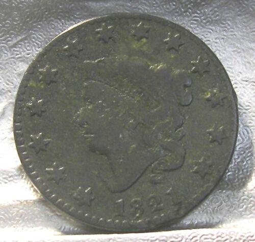 1821 CORONET MATRON HEAD LARGE CENT