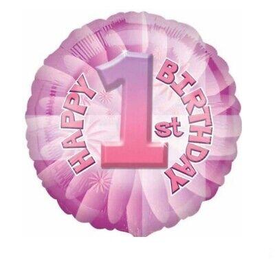 Mädchen Erster Geburtstag Pink Süß Folien Ballon Partydekorationen Alter 1 #