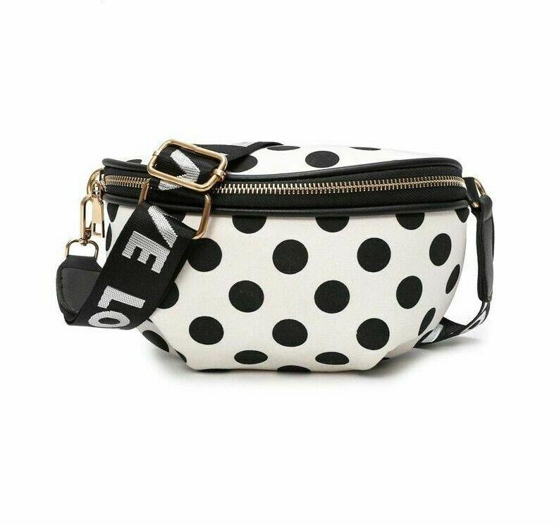 Dots Waist Bags For Women Fashion Nylon Fanny Pack Handy Bel