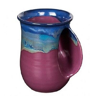 Hand Warmer Mug Purple Passion Right Hand By Clay In Motion Pottery