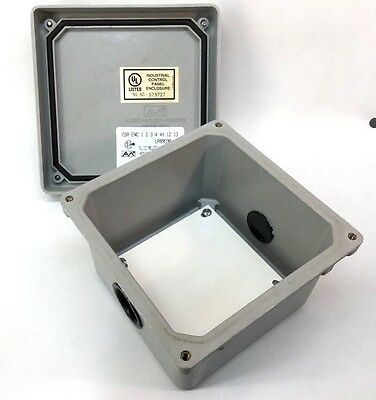Allied Moulded Am664 Wall-mounted Non-metallic Enclosure 6x6x4 W Panel