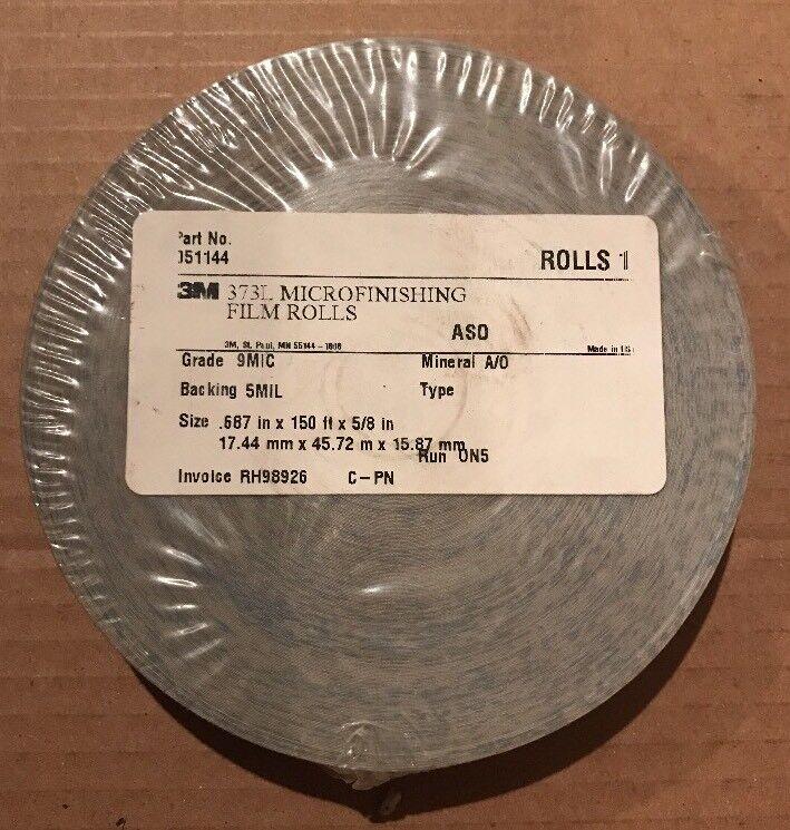 "3M 373L ASO Microfinishing Film Roll, 0.687"" x 150"