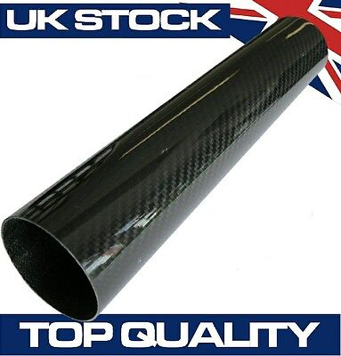 300mm Joiner Carbon Fibre Pipe, 51mm OD - Real Carbon Fiber Air Intake Induction