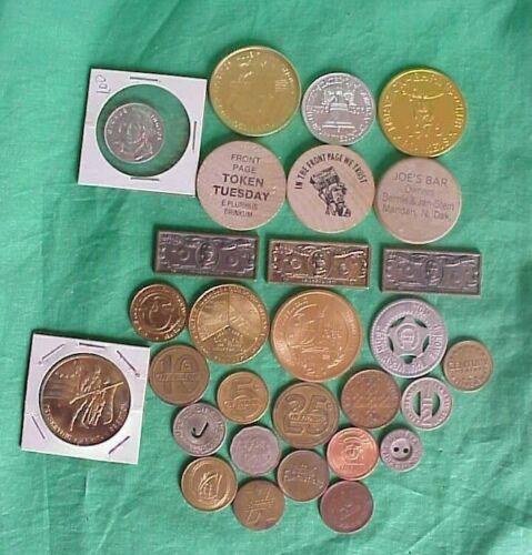 Lot of 29 Token & Wooden Nickel Nice Assortment