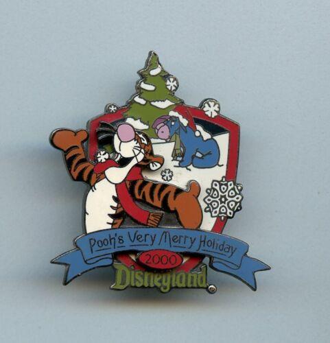 Disney Very Merry Christmas Winter Tigger Snowflakes & Santa Hat Eeyore LE Pin