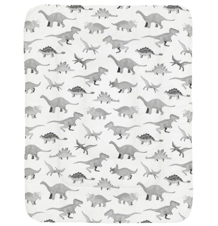 Carousel Designs  Baby Crib Comforter - Watercolor Dinosaurs