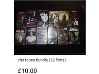 Vhs tapes bundle (12 films)
