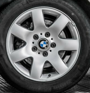 BMW Winter studded tires w/rims 16""