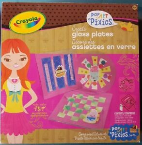 Crayola Popart Pixies Create Glass Plates DIY