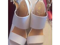 Stunning Womans wedges size 4