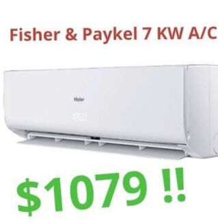 ***Fisher & Paykel 7KW Split System Air Conditioner***Just $1079!