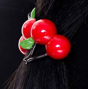 banned femme accessoire cheveux fille rockabilly annees 50 elastique cherry. Black Bedroom Furniture Sets. Home Design Ideas