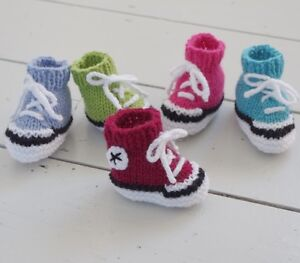 Baby Booties Trainers Knitting Pattern Sneakers Basketball Boots Free Penguin