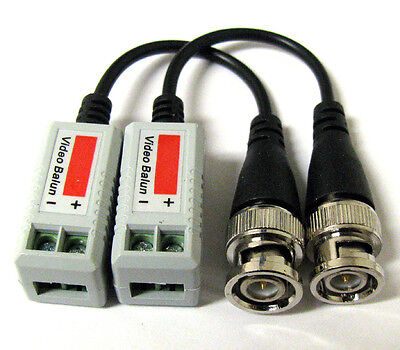 New 50 x Coax CAT5 Camera CCTV BNC Video Balun with Cable Transceiver US Seller