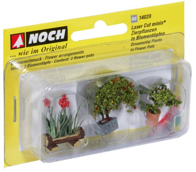 NOCH 14020 Spur H0 1:87 Zierpflanzen in Blumenkübeln NEU in OVP