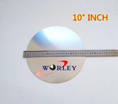 10 Inch 255mm Dia Aluminum Disc Circle Blank Plate Flat Sheet Round 2mm Thick