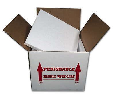Insulated Shipping Box 7 X 7 X 6  With 12 Foam One Box