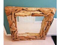 Wooden Framed Mirror