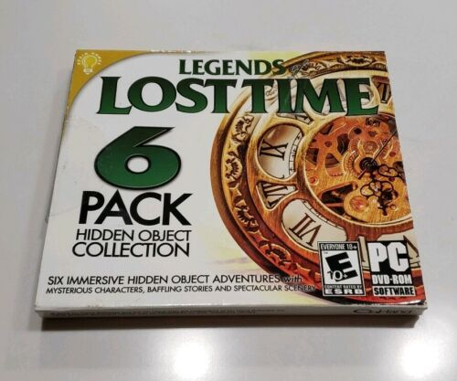 Computer Games - Legends Of Lost Time PC Games Windows 10 8 7 XP Computer hidden object 6 pack