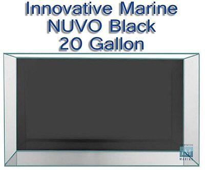 Innovative Marine NUVO Black 20 G Aquarium Twenty Gallon Rimless Fish Tank Only