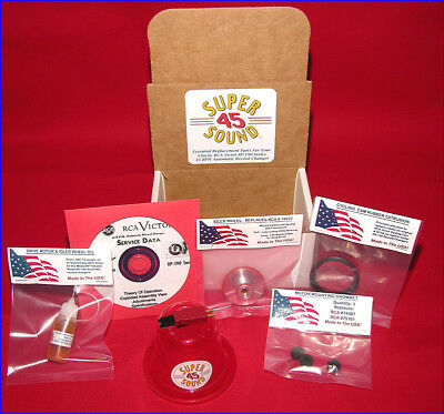 RCA Victor 45 RPM Record Player Phonograph ULTIMATE Repair Kit RP-190 45-EY-2