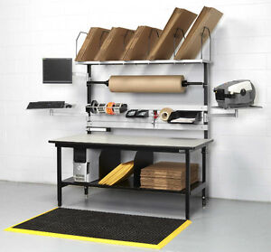 PACKING STATION, SHIPPING BENCH. SHIPPING RECEIVING DESK