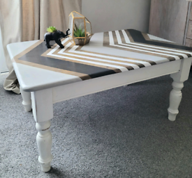 Geometric upcycled coffee table