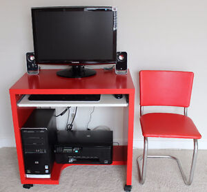 IKEA Computer Table 'MIKAEL' (Red)