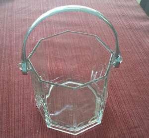 Glass Ice Bucket - Octagonal - Made in France