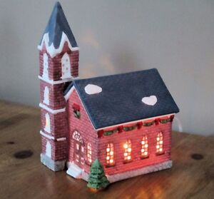 Porcelain Village Church by Dickens Collectibles -Christmas