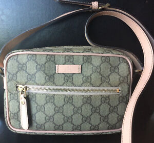 Authentic Gucci Crossbody coated canvas bag