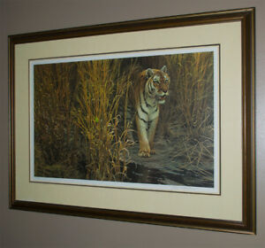 Robert Bateman Tiger at Dawn s/n framed