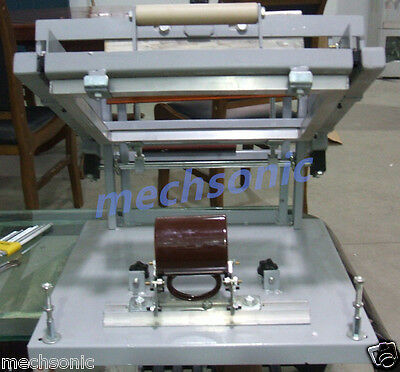 Manual Screen Cylinder Printing Machine For Bottlecuppen Surface Curve Press