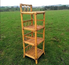 Unique 4-Tier Bamboo/ Wicker / Cane Shelving/ Plant Stand/ Bookcase.