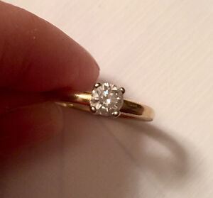 NEW PRICE!! 14 karat yellow gold engagement ring