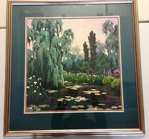 GARRY MICHAEL PRINT-ALL IN GREEN THE STREAM WENT BENDING