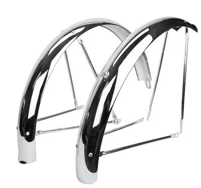 "Wald Léger Crescent 89-26/"" Chrome Fender Set"