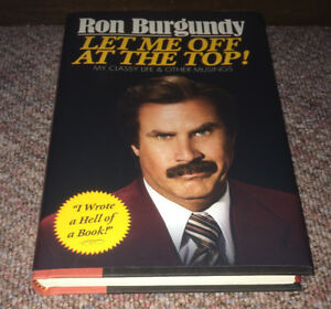 Ron Burgudy Let Me Off At The Top! Will Ferrell Hard Cover Book