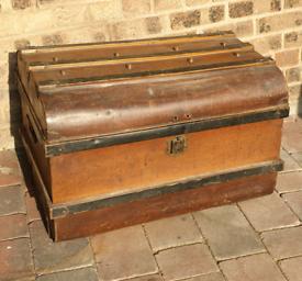 **£115** Antique Metal Treasure Box Chest