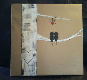 CANVAS LOVE BIRD PICTURE & OTHERS