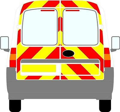 Vauxhall Combo 2001-2012 Reflective/ Chapter 8 Rear Chevron Kit graphic Decal