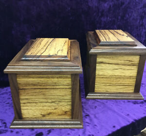 Handcrafted cremation urns.