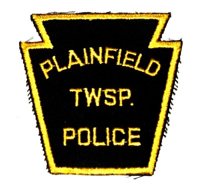 PLAINFIELD PENNSYLVANIA PA Sheriff Police Patch KEYSTONE VINTAGE OLD MESH ~